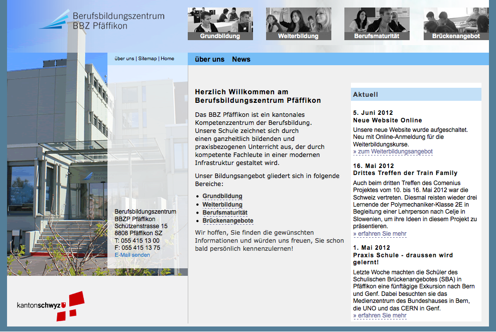 Bild - Berufsbildungszentrum BBZP Pfäffikon SZ