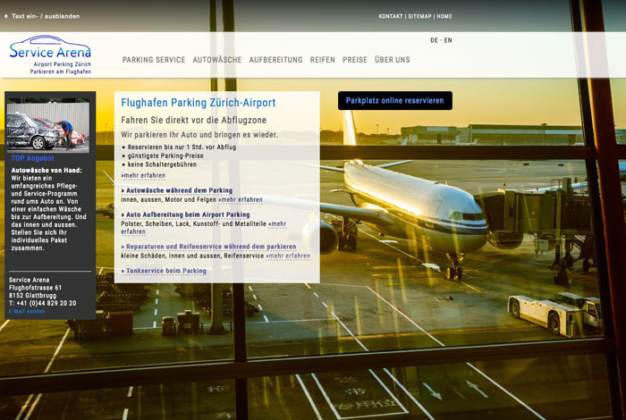 News: Flughafen Parking Zürich Airport
