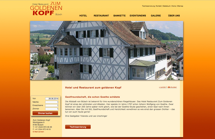 Bild - Hotel Restaurant zum goldenen Kopf